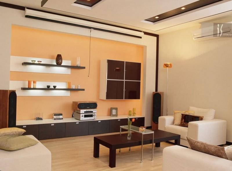 Дизайн и интерьер гостинной комнаты