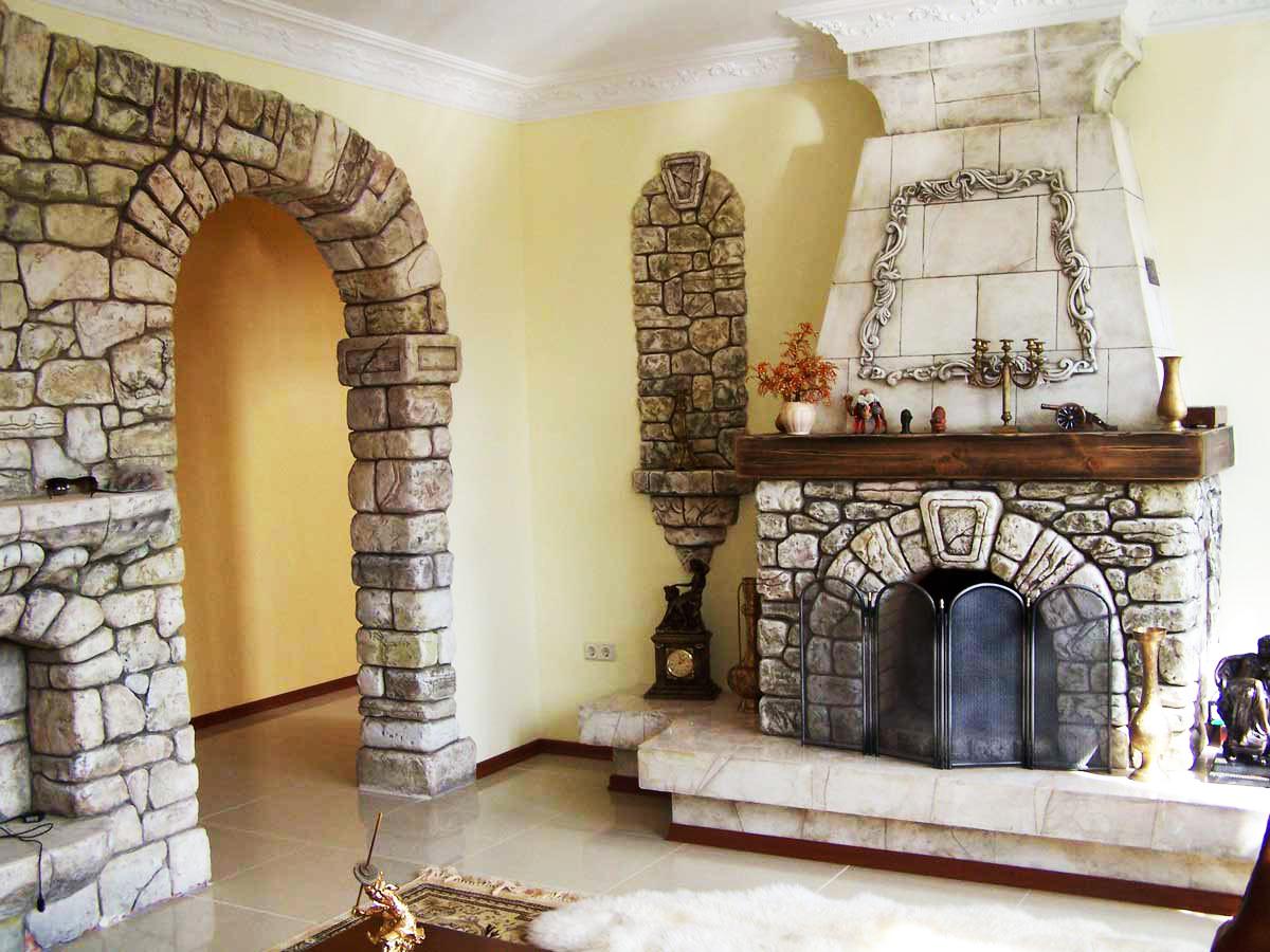 Натуральный камень в облицовке стен