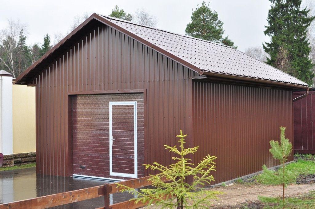 Самостоятельное строительство металлического гаража